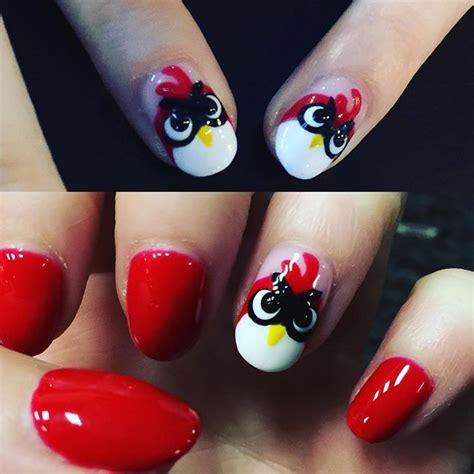 nail art bird tutorial angry birds nail art askideas com