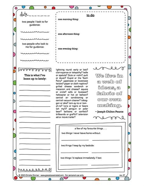 journalling prompts in the form of printable journal