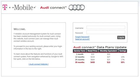 t mobile audi connect cost audi and t mobile partner to launch the industry s most