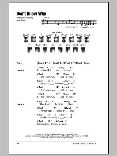 printable lyrics to via dolorosa don t know why sheet music direct