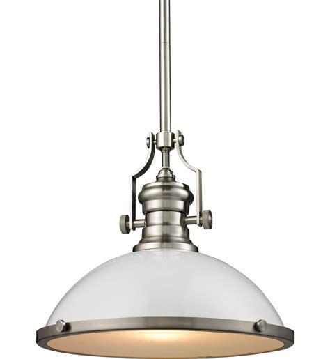 elk lighting 66526 1 chadwick satin nickel 14 inch 1