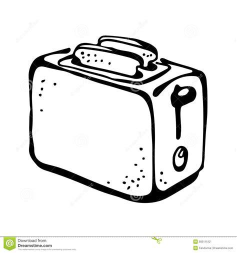 Grill Toasters Dessin De Grille Pain Illustration De Vecteur Image