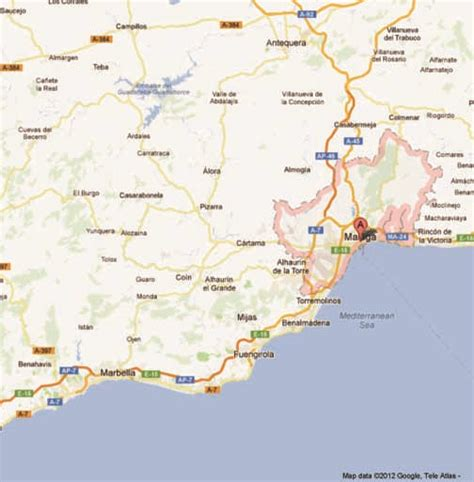 Google Map Spain by Mijas Spain Map Car Interior Design