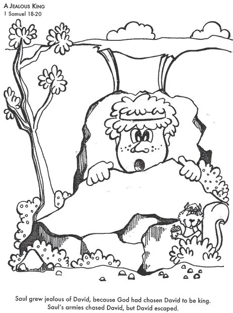 coloring sheets for king saul david hides from saul coloring page bible class david