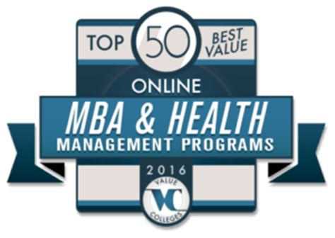Mba Healthcare Administration Programs by Top 50 Best Value Mba Health Management Programs