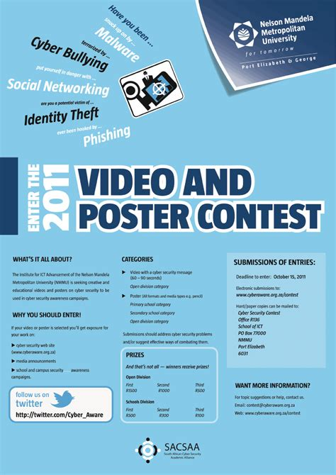 Poster Giveaway - 2011 poster contest south african cyber security academic alliance