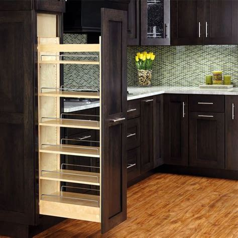 pull out wood drawers for pantry rev a shelf tall wood pull out pantry with adjustable