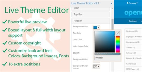 live theme editor by viethemes live theme editor by viethemes codecanyon