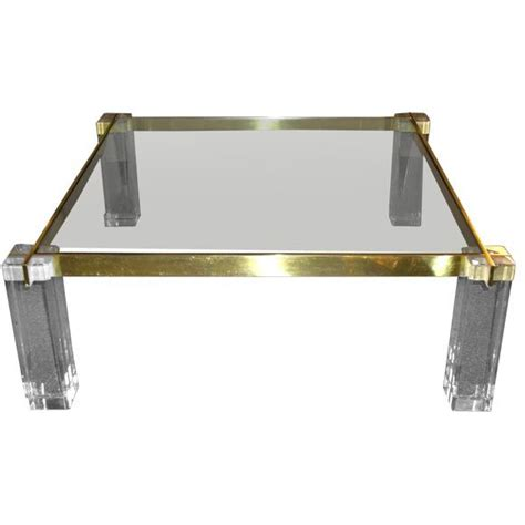 42 Square Coffee Table 42 Quot Square Lucite And Glass Coffee Table