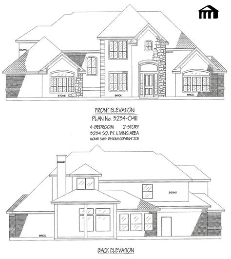3234 0411 square feet 4 bedroom 2 story house plan 3234 0411 square feet 4 bedroom 2 story house plan