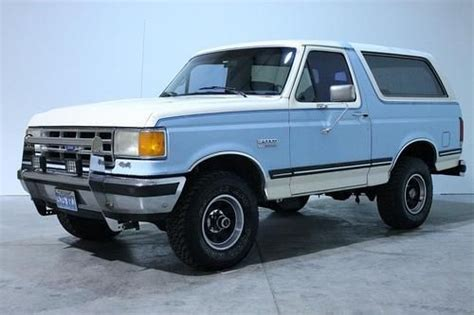 free car manuals to download 1987 ford bronco interior lighting buy used 1987 ford bronco xlt 4x4 nevada truck rust free removable hardtop no res in grand