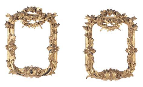 cornici dorate antiche coppia di piccole cornici intagliate e dorate xviii
