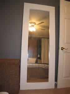 Turn mirrored closet door into floor mirror