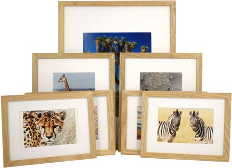 set of 7 matted gallery picture frames