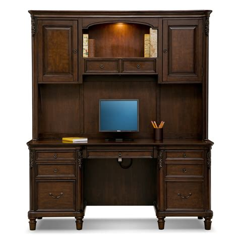 ashland credenza desk with hutch value city furniture