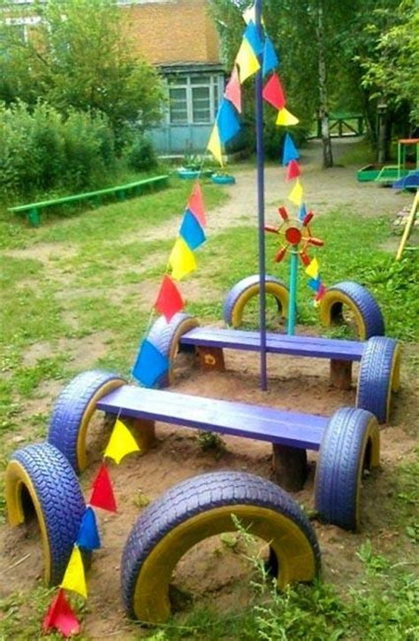 Garden Decoration Toys by 20 Garden Decorations And Toys Made With Recycled Tires