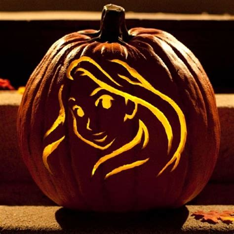 rapunzel pumpkin template cool disney inspired pumpkin carving ideas