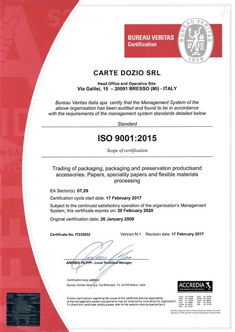 bureau veritas com certifications cartedozio