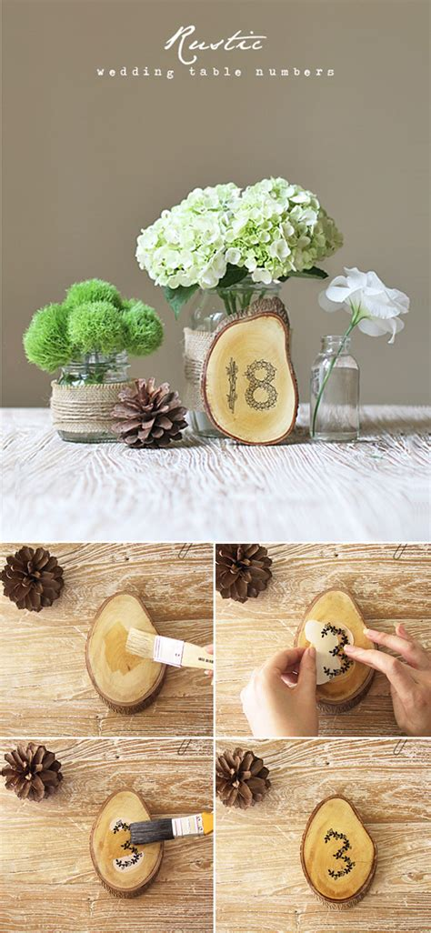 diy country wedding decorations top 10 diy wedding table number ideas with tutorials