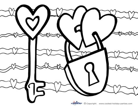 valentines day coloring pages free and printable