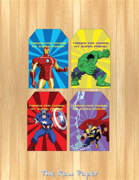 Label Book Avenger instant editable thank you tag tags thank you tags and the o jays