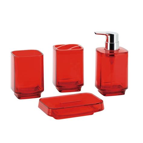 red bathroom set kingston brass bright collection 4 piece bath accessory