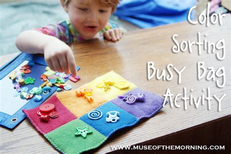 Color Sort Busy Activity For Children 365 Days Of Crafts - weekend inspiration busy bag ideas muse of the morning
