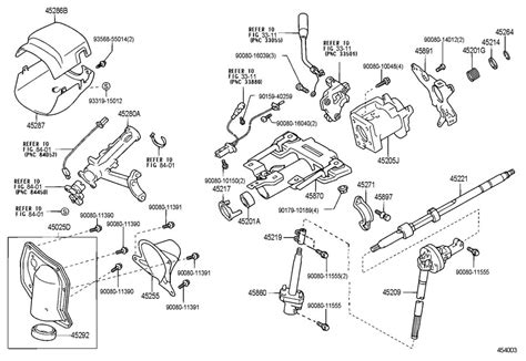 Toyota Steering Column 2000 Toyota Tundra Steering Column Diagram
