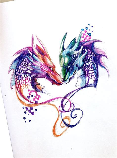 two dragons pen design by lucky978 on deviantart
