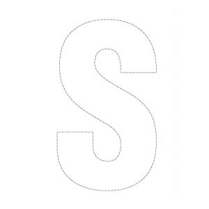 letter s template outline capital s