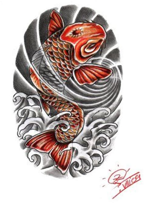collection of 25 koi fish tattoo