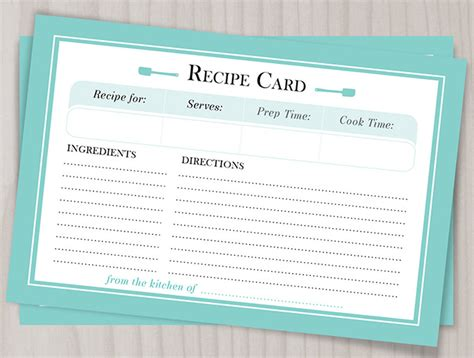 word recipe card template free editable recipe card templates for microsoft word