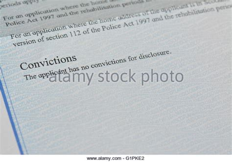 Disclosure Letter Criminal Record Disclosure Stock Photos Disclosure Stock Images Alamy
