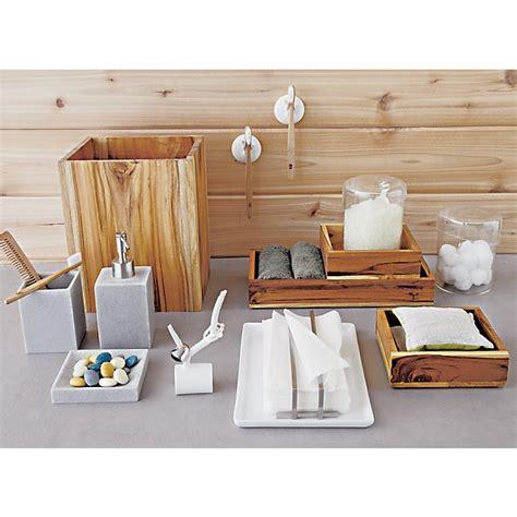 teak bath accessories cb2