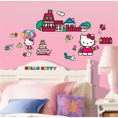 Hello Kitty Wall Decor Stickers hello kitty wall decals removable amp repositionable potty training