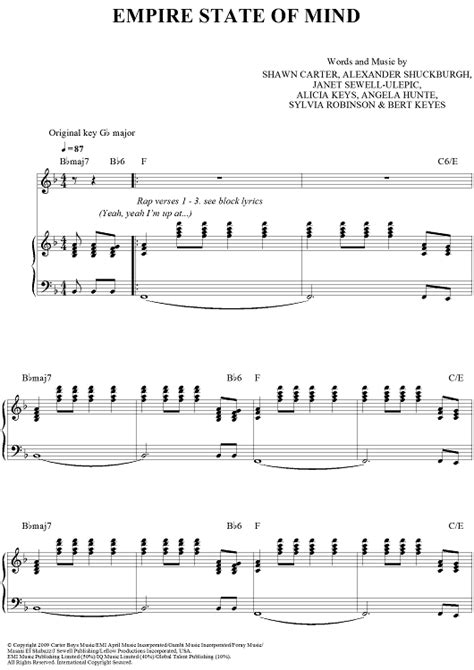 tutorial piano empire state of mind empire state of mind sheet music music for piano and