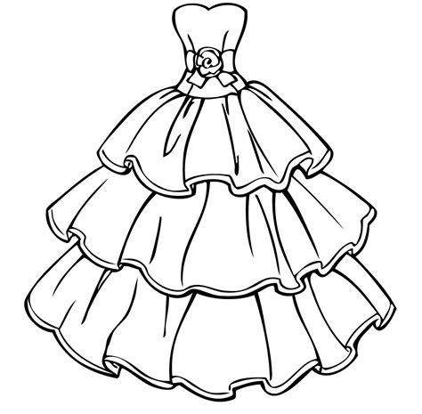 coloring pages of princess dresses wedding dress coloring pages coloring home
