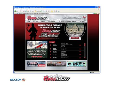 60day Mba Social Media 20 Exles by Coors Light Opga Feb 09