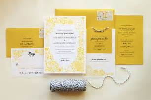adam s yellow floral wedding invitations