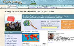 couch surf website website of the week couchsurfing com daily mail online