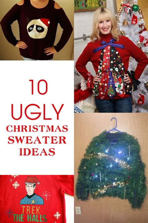 make your own ugly christmas sweater with these 10