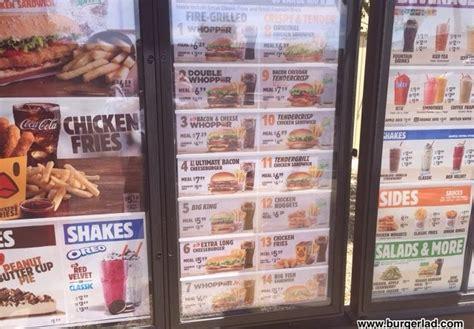 prices usa burger king usa menu prices price list