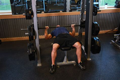 Smith Machine Bench Press Exercise Guide And Video
