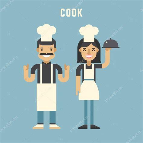 imagenes groseras para hombres y mujeres cocinar el concepto personajes de dibujos animados de