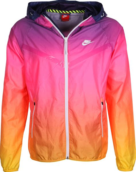 nike windbreaker nike ru sunset lw windbreaker pink purple orange