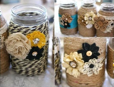 diy jar decorations ways to decorate with jars recycled things