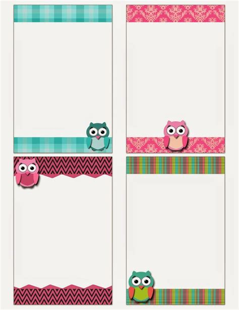Free Printable Owl Notecards Crafts Pinterest Free Printable And Owl Free Printable Note Cards Template