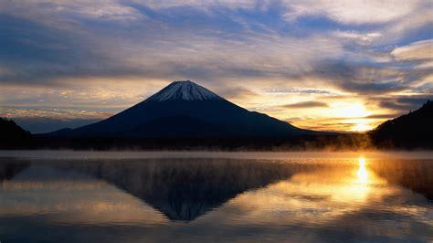 landscape sunrise sunlight mountain japan mount fuji