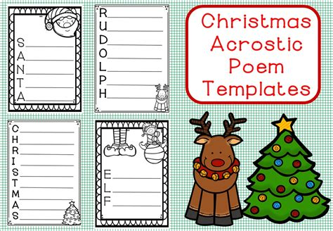 christmas poem template christmas decore