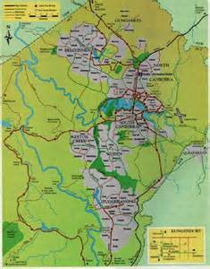 Canberra World Map by Maps Of Canberra